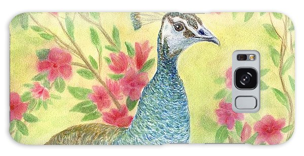 Miss Peahen In The Garden Galaxy Case