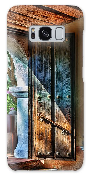 Galaxy Case featuring the photograph Mission Door by Joan Carroll