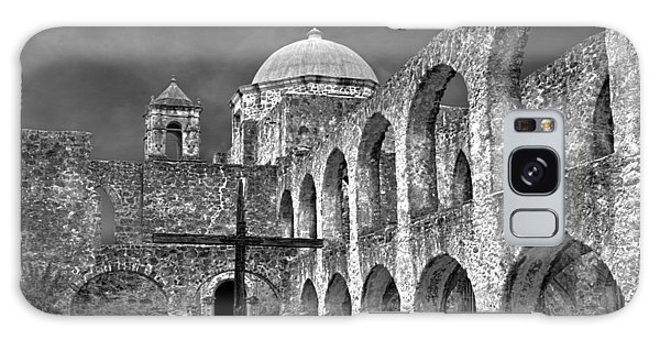 Mission San Jose Arches Bw Galaxy Case