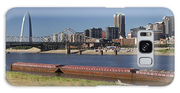 Mississippi River And St Louis Skyline Panorama Galaxy Case by Garry McMichael