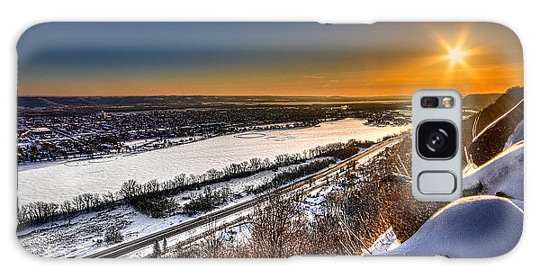 Mississippi River Sunrise Galaxy Case by Tom Gort