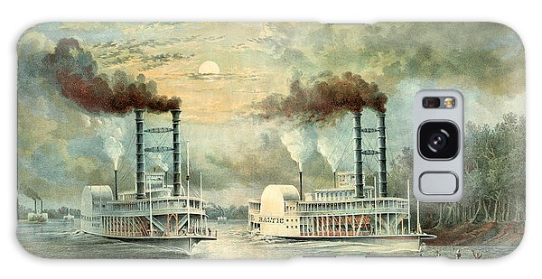 Mississippi Steamboat Race 1859 Galaxy Case