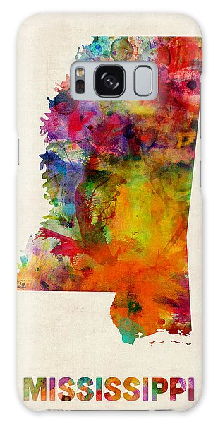 Mississippi Watercolor Map Galaxy Case