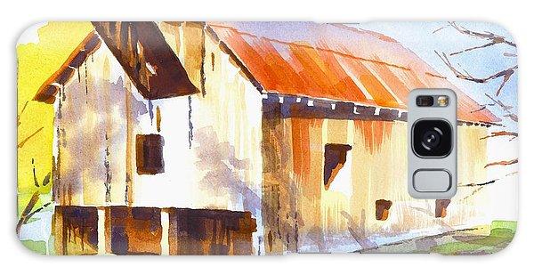 Missouri Barn In Watercolor Galaxy Case