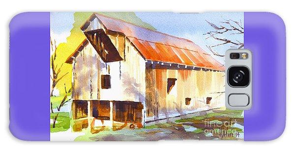 Missouri Barn In Watercolor Galaxy Case by Kip DeVore