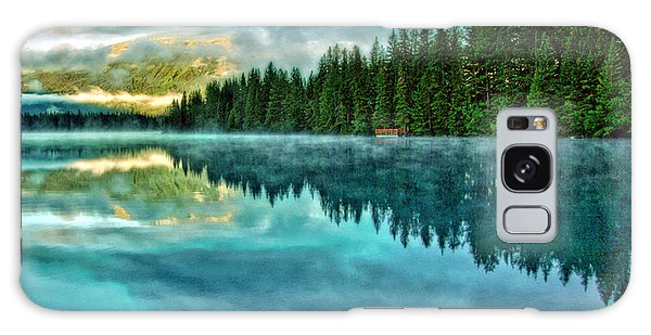 Mist And Moods Of Lake Beauvert  Galaxy Case