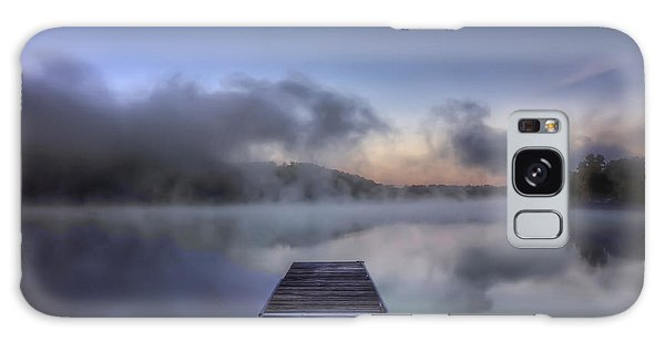 Mist At Lake Logan Galaxy Case