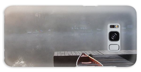 Mist Floating Over The Lake Galaxy Case