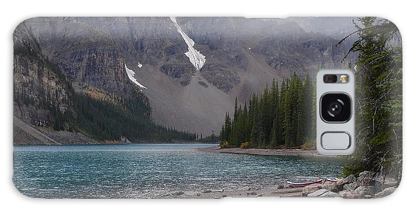 Mist Over Lake Moraine Galaxy Case by Cheryl Miller