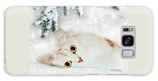 Mistletoe In The Snow Galaxy Case by Morag Bates