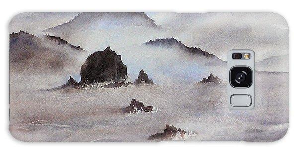 Mists Of Haystack Rock Galaxy Case