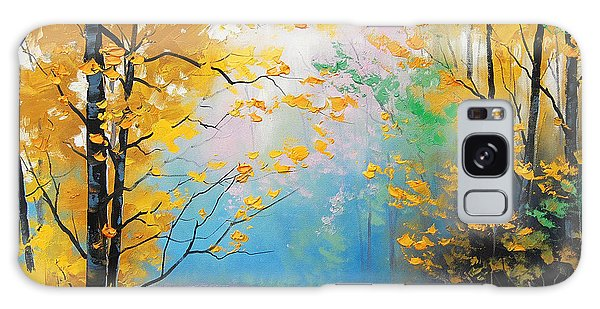 Foliage Galaxy Case - Misty Autumn Day by Graham Gercken