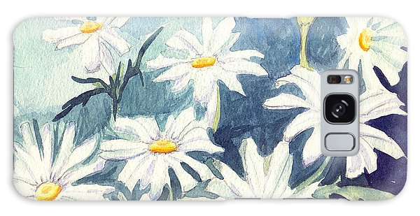 Misty Daisies Galaxy Case by Katherine Miller