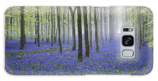 Bluebell Galaxy Case - Misty Dawn Bluebell Wood by Tim Gainey