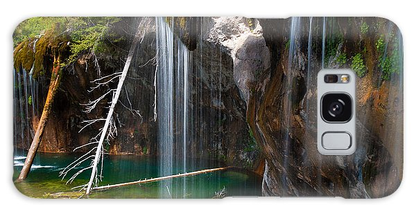 Misty Falls At Hanging Lake Galaxy Case