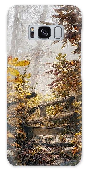 Misty Footbridge Galaxy Case