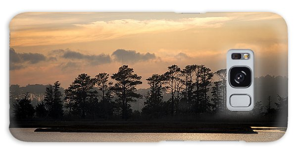 Misty Island Of Assawoman Bay Galaxy Case by Bill Swartwout