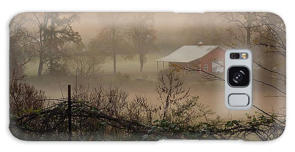 Misty Morn And Horse Galaxy Case by Kathy Barney