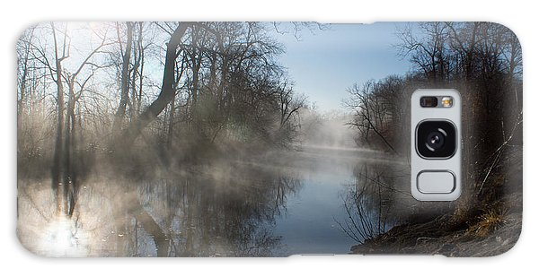 Misty Morning Along James River Galaxy Case