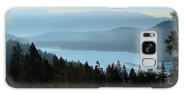 Misty Morning At Donner Lake Galaxy Case