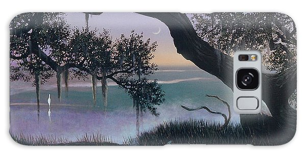 Misty Morning At Seabrook Galaxy Case by Blue Sky