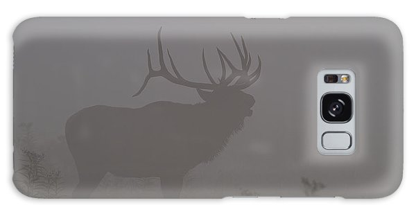 Misty Morning Bull Elk Galaxy Case by Doug McPherson