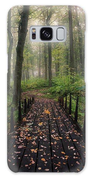 Green Leaf Galaxy Case - Misty Morning by Christian Lindsten