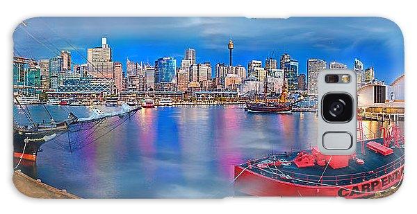 Colours Galaxy Case - Misty Morning Harbour by Az Jackson