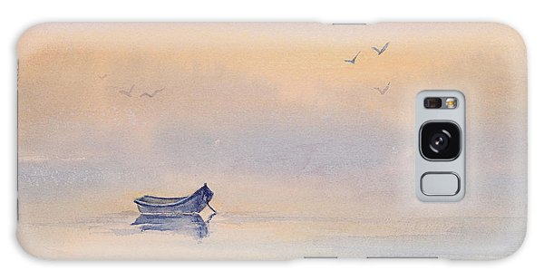 Misty Morning Peace Watercolor Painting Galaxy Case