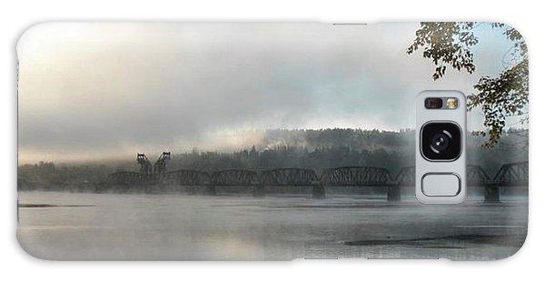 Misty Railway Bridge Galaxy Case