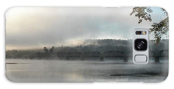 Misty Railway Bridge Galaxy Case