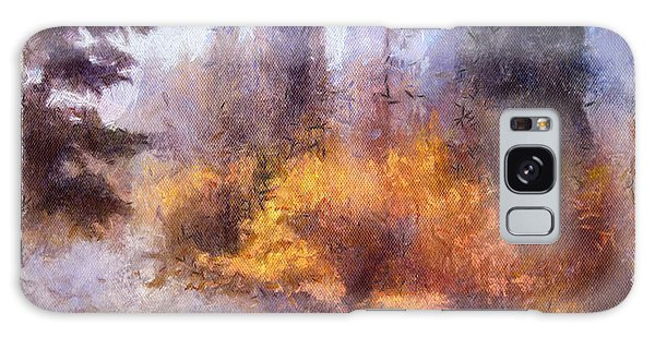 Misty River Afternoon Galaxy Case
