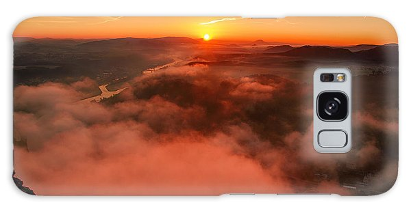 Misty Sunrise On The Lilienstein Galaxy Case