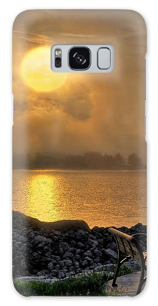 Misty Sunset At The Bay Galaxy Case