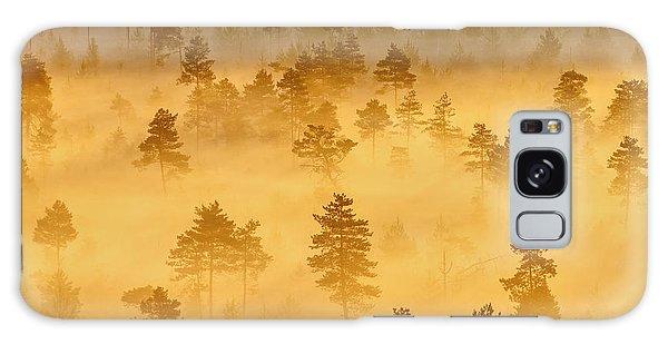 Misty Trees In The Morning Galaxy Case by Teemu Tretjakov