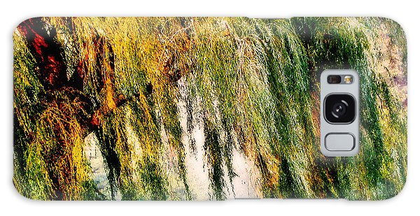 Misty Weeping Willow Tree Dreams Galaxy Case