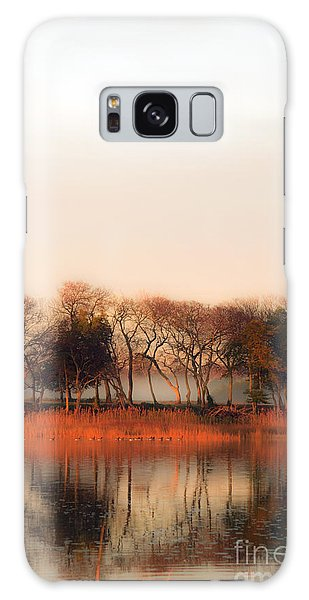 Misty Winter's Morning Galaxy Case by Angela DeFrias