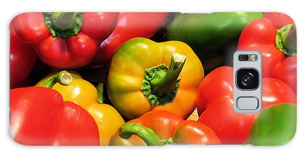 Mixed Bell Peppers Galaxy Case by Gerry Bates
