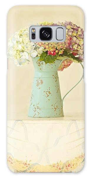 Mixed Hydrangea In Old Can Galaxy Case