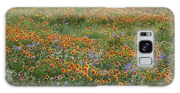 Mixed Wildflowers Blowing Galaxy Case
