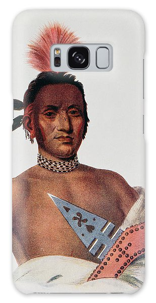 Indian Head Galaxy Case - Moa-na-hon-ga Or Great Walker, An Iowa Chief, 1824, Illustration From The Indian Tribes Of North by Charles Bird King