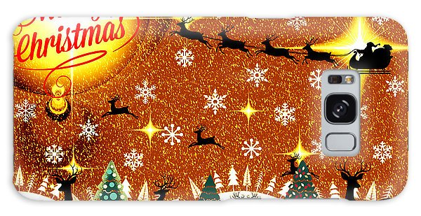 Mod Cards - Reindeer Games - Merry Christmas V Galaxy Case by Aurelio Zucco