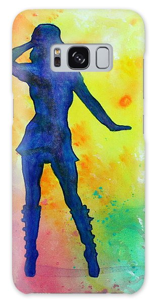 Mod Girl Female Silhouette Abstract Galaxy Case