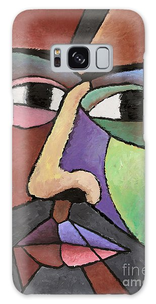 modern abstract art - About Face Galaxy Case