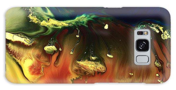 Modern Abstract Art Sinking Rocks By Kredart Galaxy Case