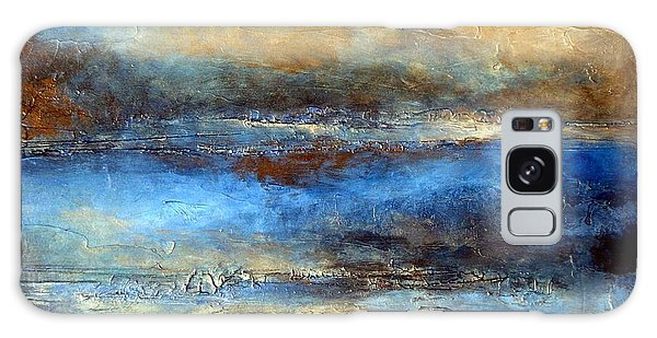 Modern Abstract Landscape Painting With Heavy Texture Cloud Drifter Galaxy Case