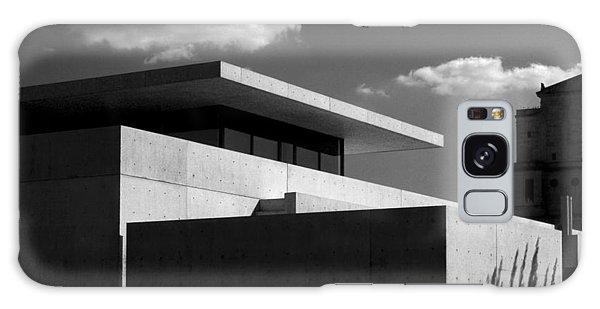 Modern Concrete Architecture Clouds Black White Galaxy Case