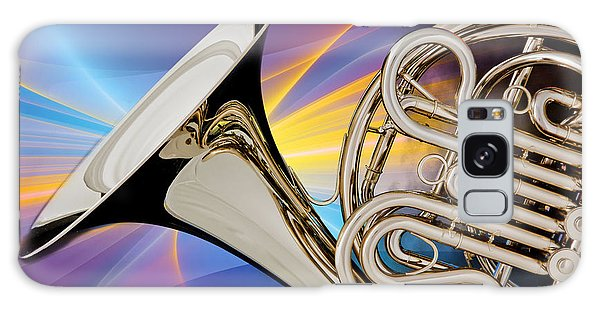 Modern French Horn Photograph In Color 3437.02 Galaxy Case by M K  Miller