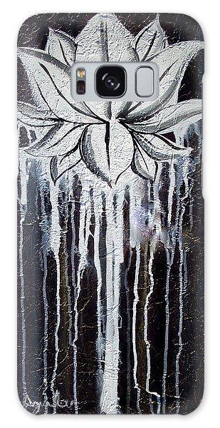 Modern Lotus Flower Painting Galaxy Case