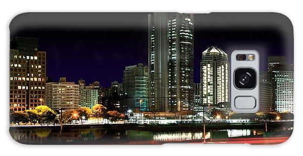 Modern Sao Paulo Skyline Near Brooklin District And Stayed Bridge Galaxy Case